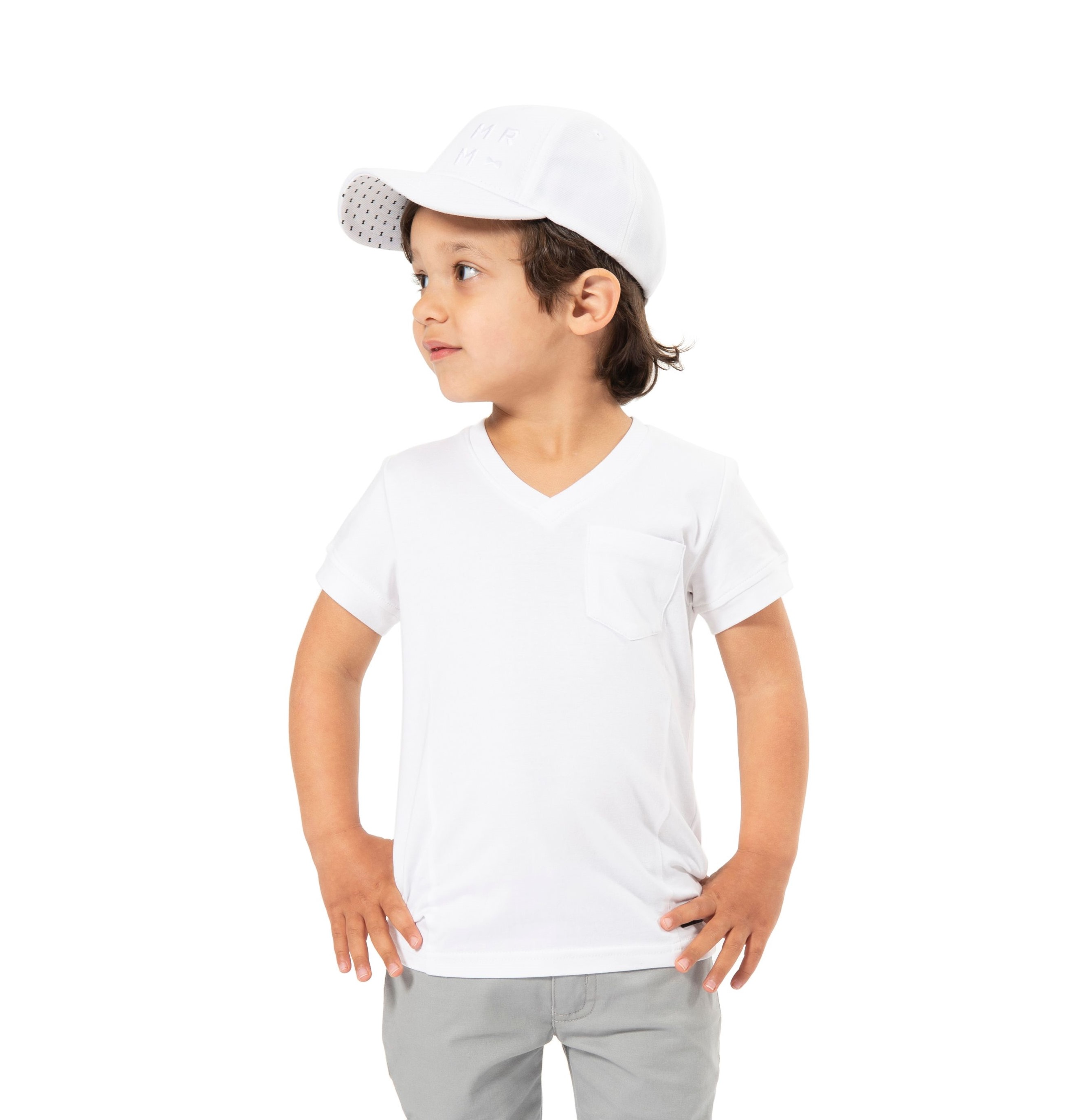 V-neck T-shirts - with pocket